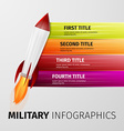 military infographics vector image