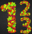 number of autumn leaves vector image vector image