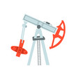 oil production - pump and refining oil factory vector image