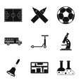 omnibus icons set simple style vector image vector image
