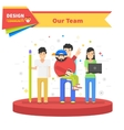 Our Success Team Linear Flat Design vector image vector image