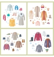 Outerwear Mens and Womens Set of Clothes Accessory vector image vector image