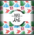 paper art background vector image