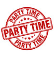 party time red grunge round vintage rubber stamp vector image vector image