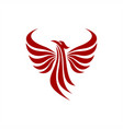 phoenix abstract logo vector image
