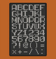 pixel font with uppercase letters of latin vector image