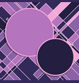 purple circles and squares abstract background vector image