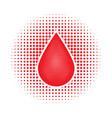 red human blood drop vector image vector image