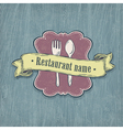 restaurant design template vector image vector image