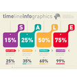 Sale infographic time line Advertising web vector image vector image