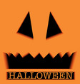 scary halloween pumpkin face ghost or monster vector image