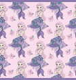 sea pattern mermaid color vector image
