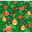 seamless background with holly vector image vector image