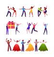 set male and female characters dancing samba vector image