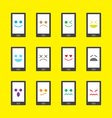 smart phone emotion icon - emoji vector image