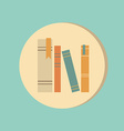 spines of books icon symbol of a science and vector image vector image