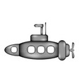 submarine sign icon vector image vector image