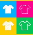 t-shirt sign four styles of icon on vector image vector image