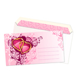 valentines postcard vector image vector image