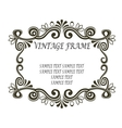 vintage frame with scrolls and flourishes vector image