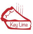 warm key lime pie vector image vector image