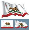 waving flag state california vector image vector image