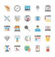 web design flat icons vector image vector image