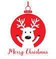 white christmas reindeer vector image vector image