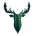 wild deer head silhouette vector image vector image