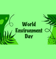 world environment day background ecologic vector image vector image