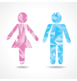 Abstract triangle male and female symbol vector image