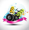 artistic stylish music speaker vector image