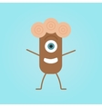 Happy cartoon monster in a flat style vector image