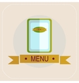 The menu for the cafe icon vector image