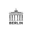 The sketch of The Brandenburg Gate in Berlin vector image