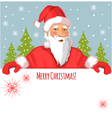Santa Claus with Christmas greetings vector image