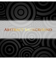 abstract black background with circles and white vector image