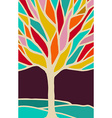 Abstract tree with colorful branches vector image vector image