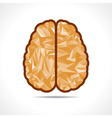 Abstract triangle brain icon vector image vector image