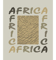Africa background with text and texture elephant vector image vector image