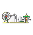amusement park line icon concept amusement park vector image