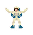 astronaut happy emoji cosmonaut merry emotion vector image vector image