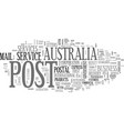 australia post text word cloud concept vector image vector image