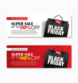 black friday sale shopping bag cover and web vector image vector image