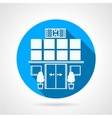 Blue icon for hospital facade vector image