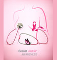 breast cancer awareness background with a vector image