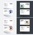 business card template with many yellow vector image vector image