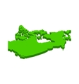 canada map icon isometric 3d style vector image vector image