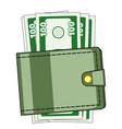 cash wallet vector image