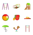Children swing icons set cartoon style vector image vector image
